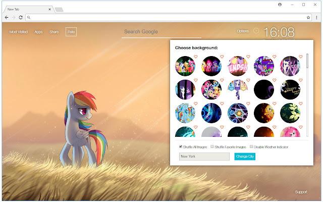 My Little Pony Custom New Tab - freeaddon.com