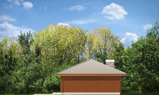 Pogodny drewniany - Elewacja prawa