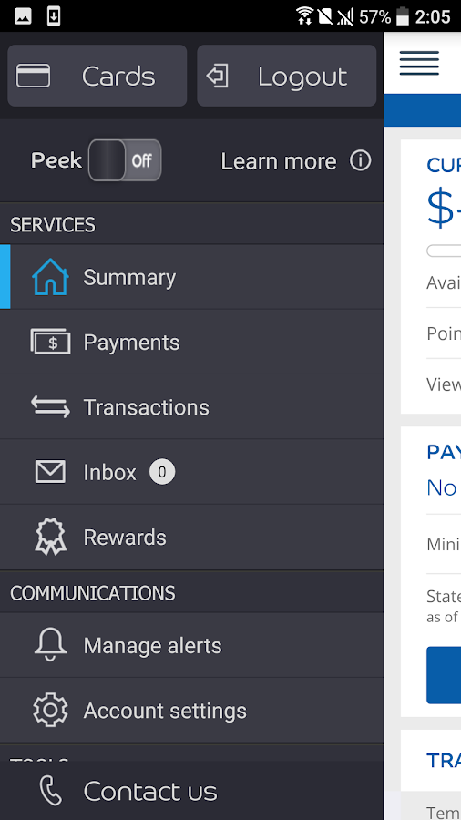 Barclaycard for Android- screenshot