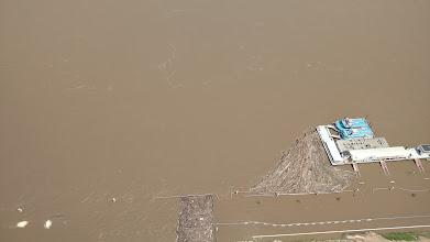 Photo: log jam on the Mississippi River