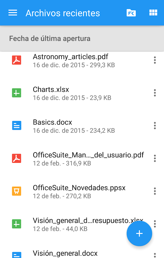 OfficeSuite + PDF Editor: captura de pantalla