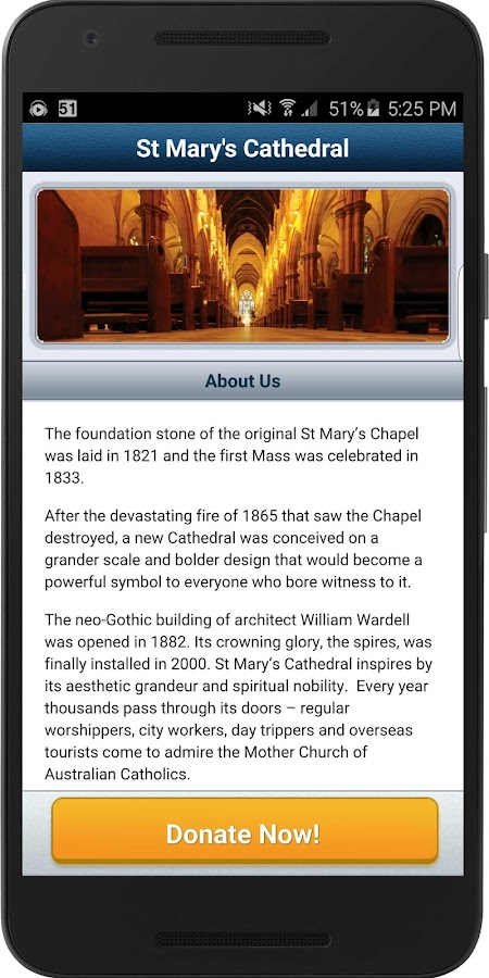 St Mary's Cathedral Appeal- screenshot