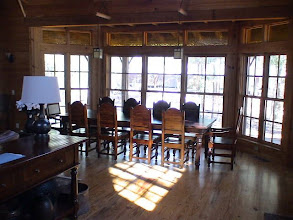 Photo: Lodge dining room table