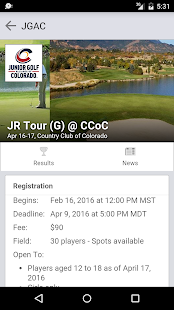 Junior Golf Alliance Colorado screenshot 2