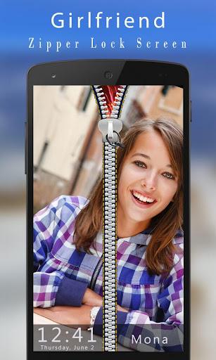 Girlfriend Photo Zipper Lock