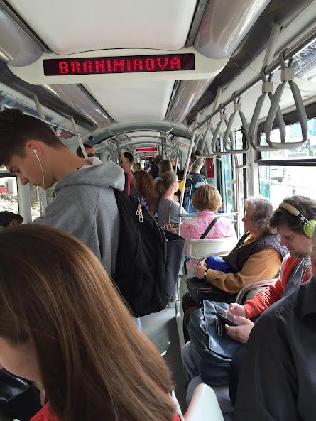 ザグレブ トラム車内