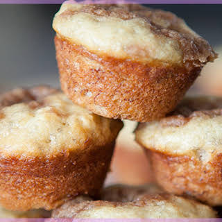 Mini Moist Crumb Banana Muffins.