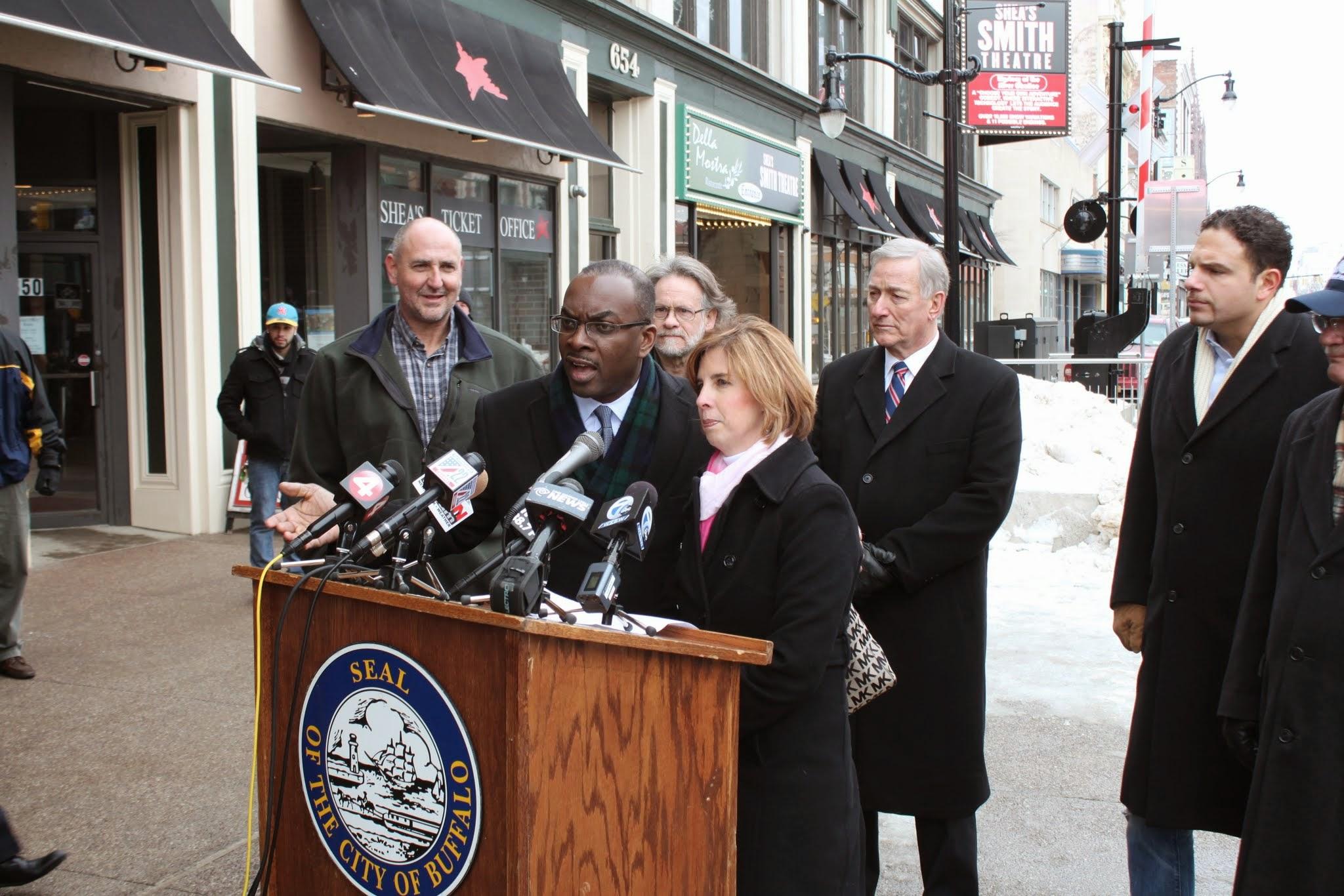 Photo: City of Buffalo Mayor Byron Brown with Kimberley Minkel