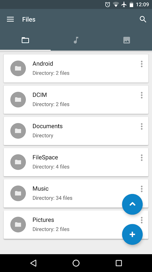 File Manager FS: Storage space- screenshot