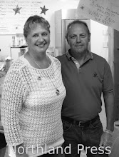 Photo: The Crossfire - Brenda and Bill Steidler served White Chicken Chili at the Crossfire - photo by Kate Perkins
