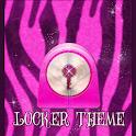 Pink Zebra Theme GO Locker icon