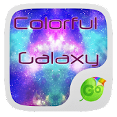 Colorful Galaxy Keyboard Theme