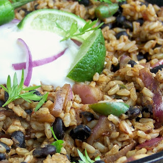 Black Beans and Brown Rice.