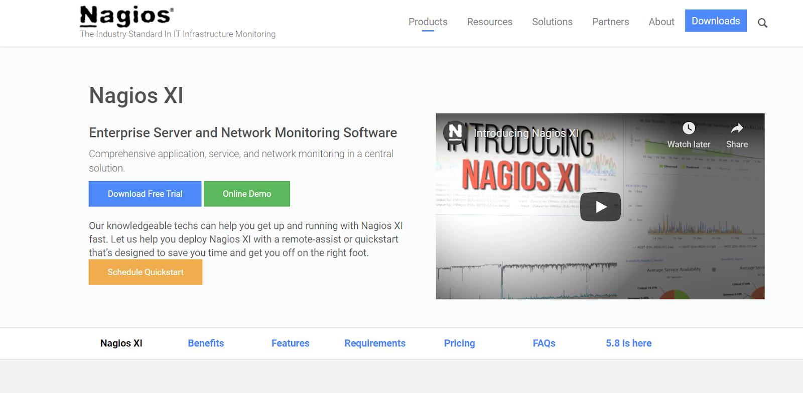 Nagios Server monitoring software