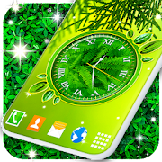 Leaves Analog Clock Live Wallpapers