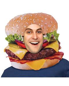 Huvudbonad, hamburgare