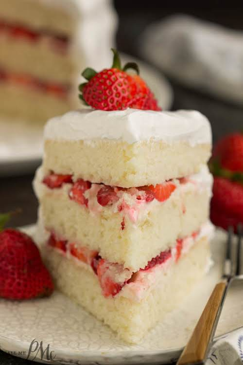 "Strawberry Cream Cake""Impress your family and friends with this Strawberry Cream Cake..."