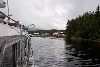 Photo: From Bella Bella we took a water taxi to Shearwater, where we stayed overnight.