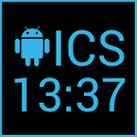 ICS Digital Clock Widget icon