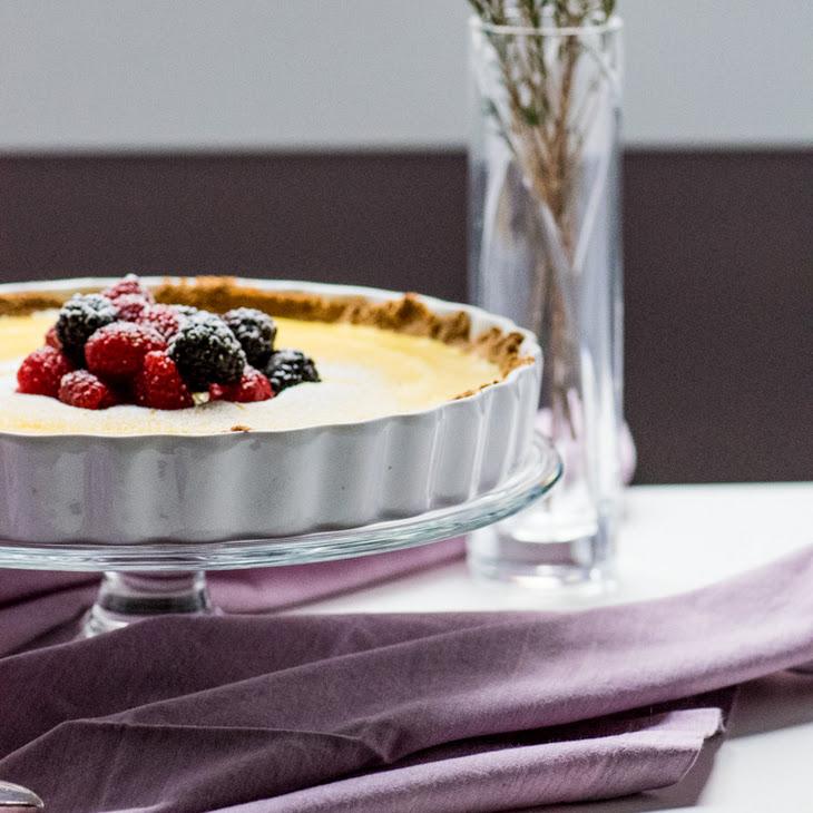 Creamy Lemon Tart with Limoncello Berries Recipe
