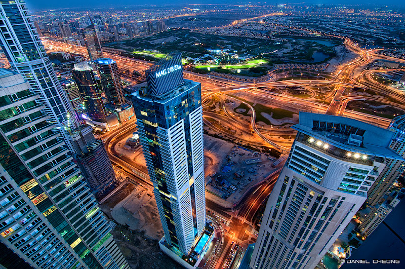 """Photo: View from the 79th floor of """"The Torch"""" tower in Dubai Marina"""