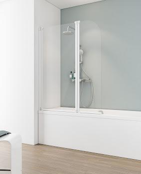 Pare-baignoire, sans cadre, 140 cm, 2 éléments, D1653