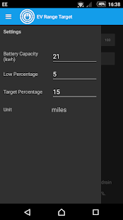 EV Range Target screenshot
