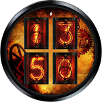 Nixie Steampunk Watch Face Icon