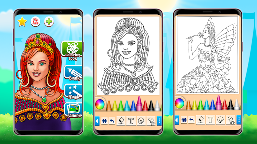 Princess Coloring Game screenshots 7