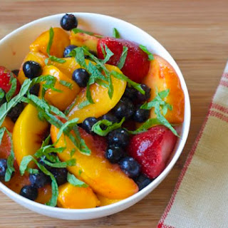 Frozen Fruit Salad with Mint.