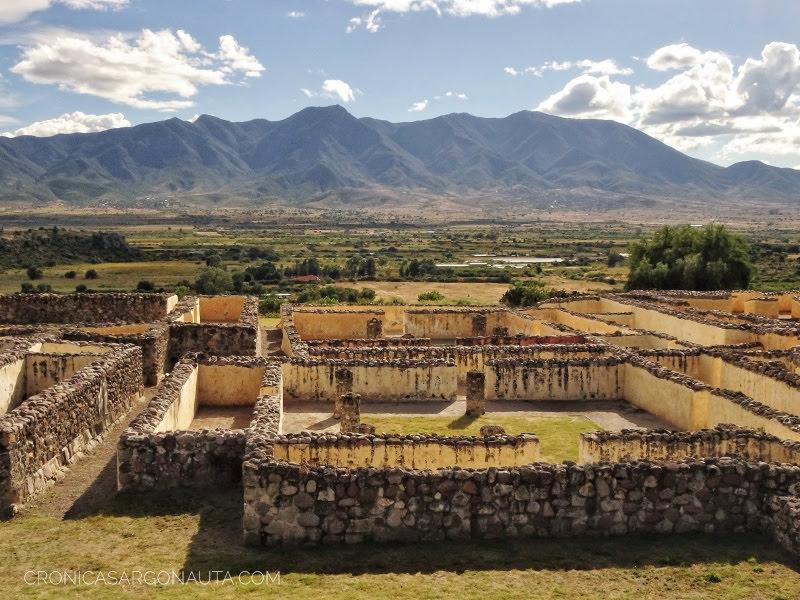 zona arqueológica de Yagul en Oaxaca