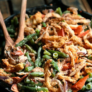 Smoked Salmon Green Bean Casserole.