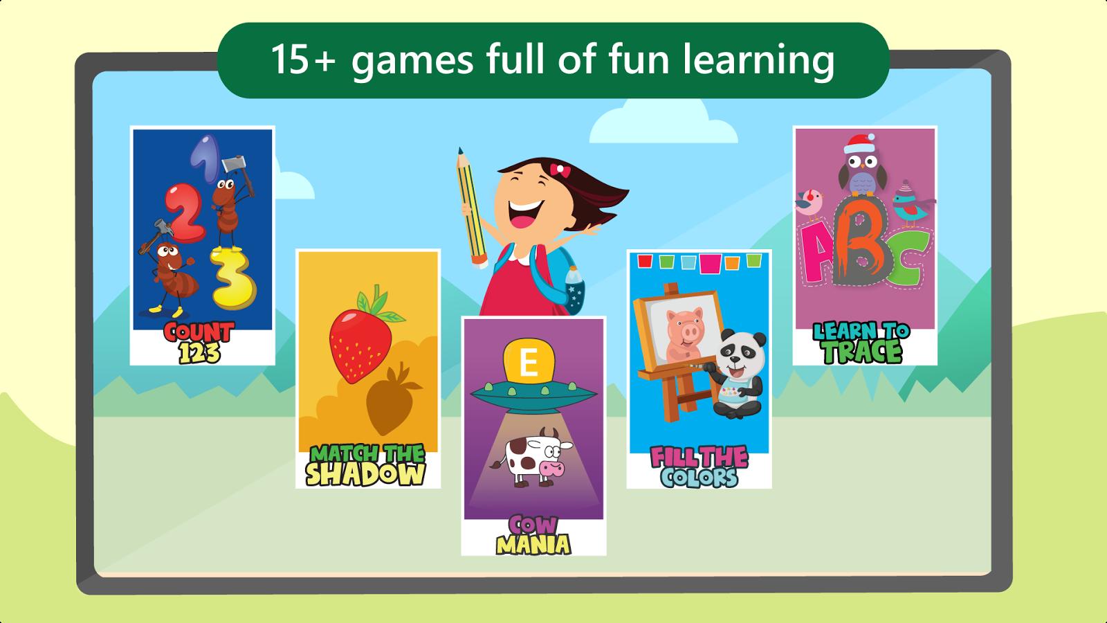 Co color by number games kids - Preschool Learning Games Kids Screenshot