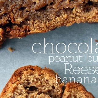 Chocolate Peanut Butter Reese's Banana Bread