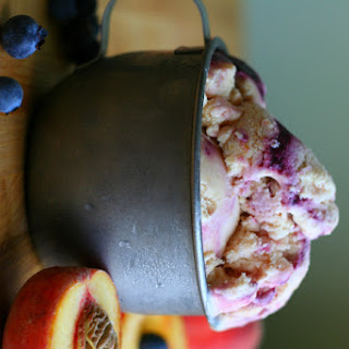 Peach Blueberry Cobbler Ice Cream