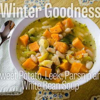 Sweet Potato, Leek, Parsnip and Bean Soup – a Vegan Winter Comfort Food