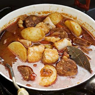 Fish and Chorizo Soup.