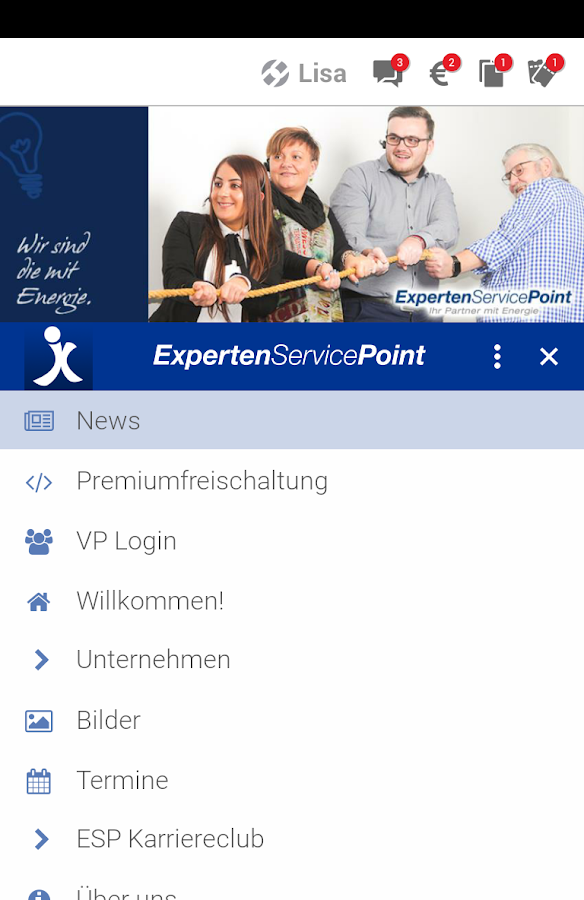 X APP - Experten Service Point- screenshot