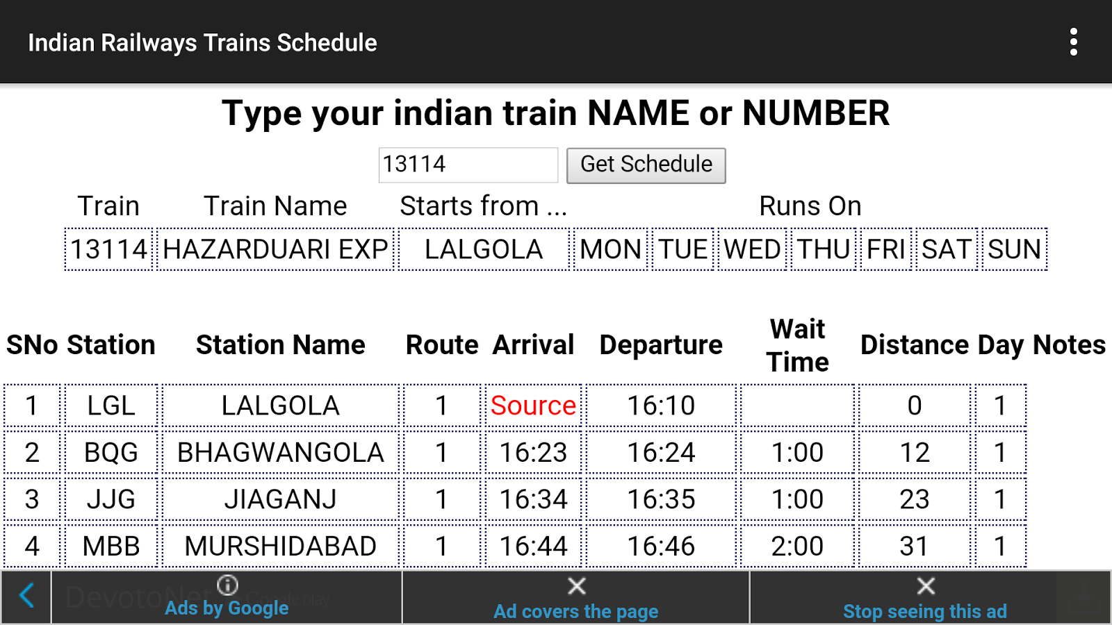 Indian Railways - screenshot