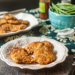 Low Carb Breaded Pork Cutlets.