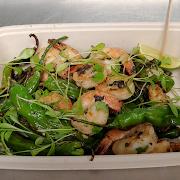 Grilled Shrimp & Shishitos