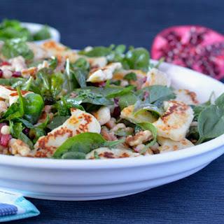 Haloumi Pomegranate Salad