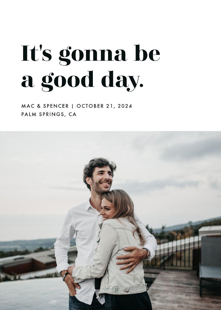 A Good Day - Wedding Invitation Template