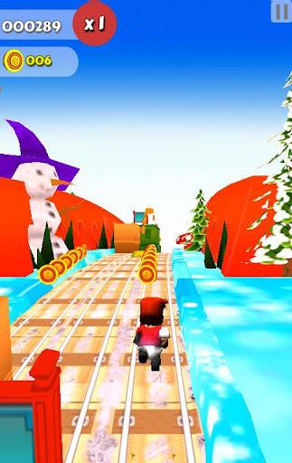 Subway Santa Xmas Run 1.0 screenshots 1