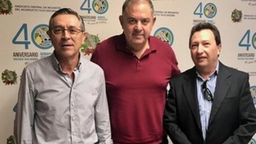 Fernando Rubio, Lucas Jiménez y José Antonio Fernández Maldonado en la sede del SCRATS.
