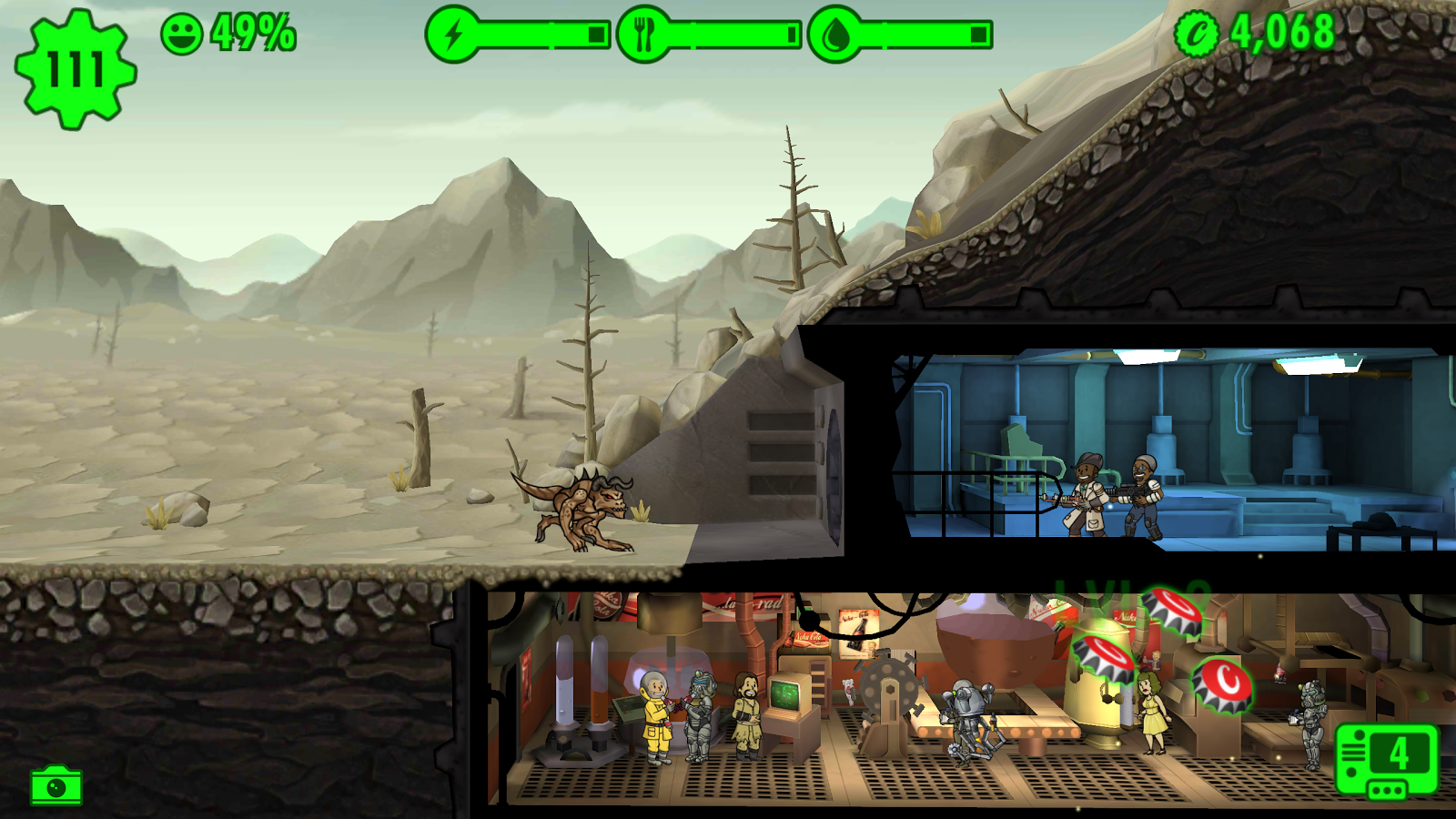 Fallout Shelter – Capture d'écran