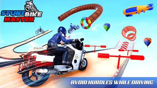 Police Bike Stunt Racing: Mega Ramp Stunts Games modavailable screenshots 5