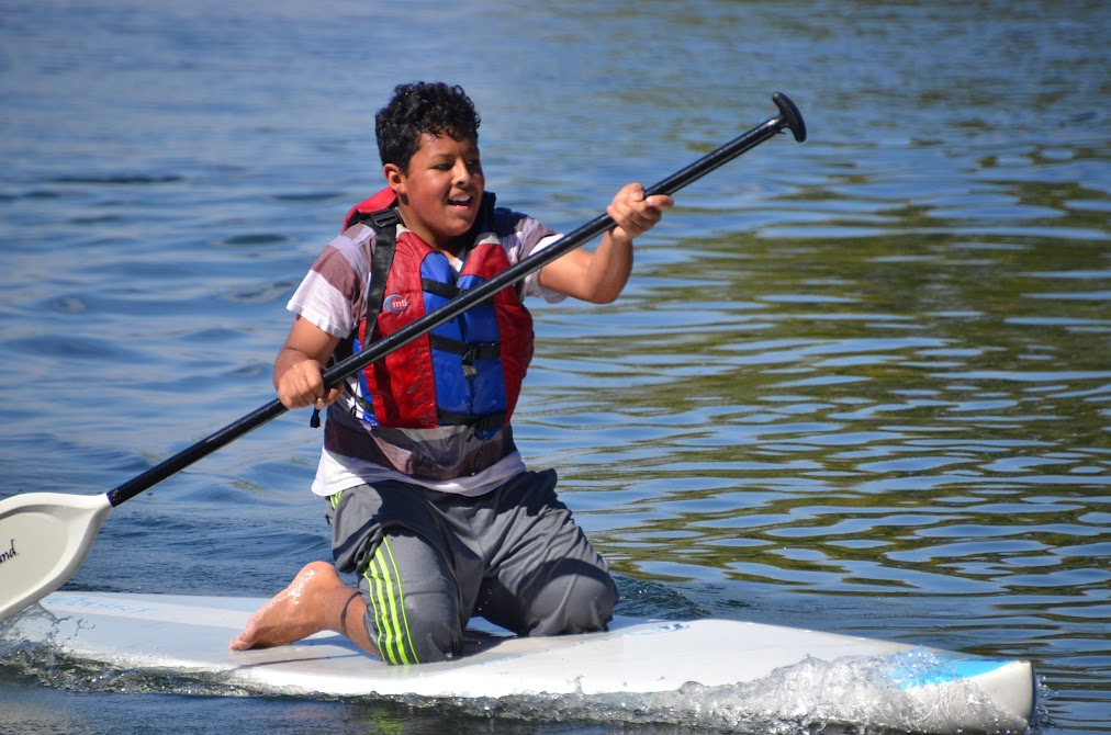 Students learn water sports