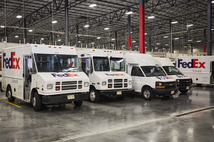 Inside a FedEx ground distribution centre in Jersey City, New Jersey, US, August 7 2018. Picture: BLOOMBERG VIA GETTY IMAGES/MARC MCANDREWS