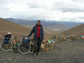 Photo: Lyngve on top of Pang la pass (5160m). Mount Everest is not visible because of clouds.